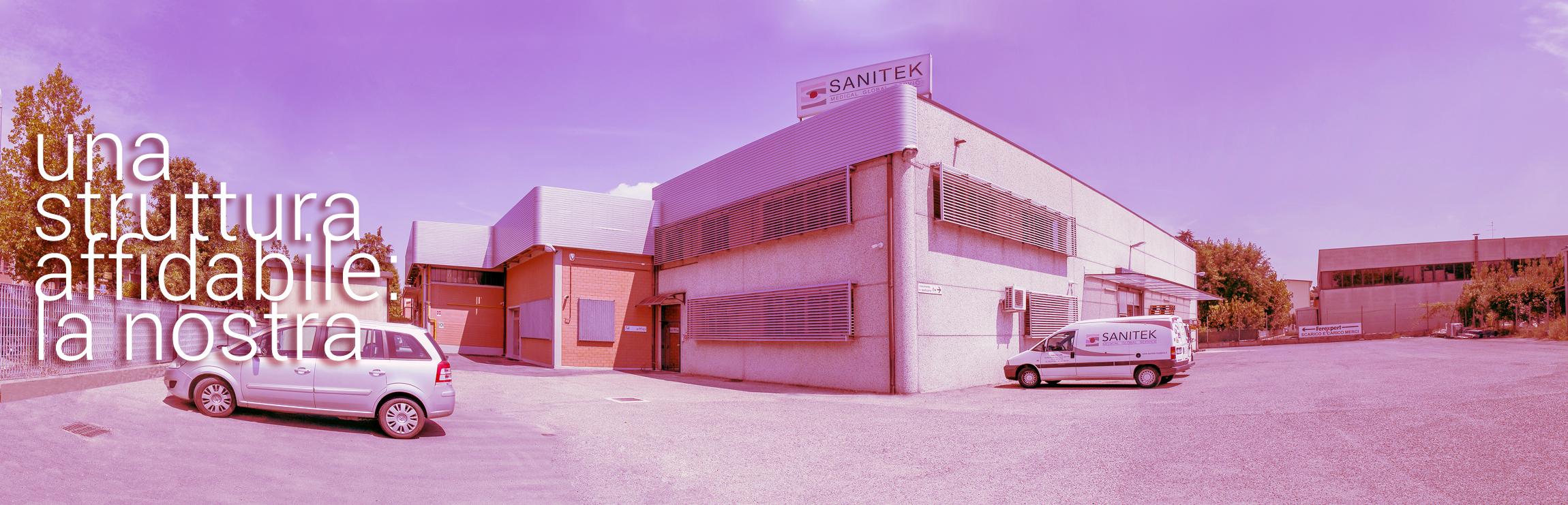 Vista esterna della nuova sedenSanitek